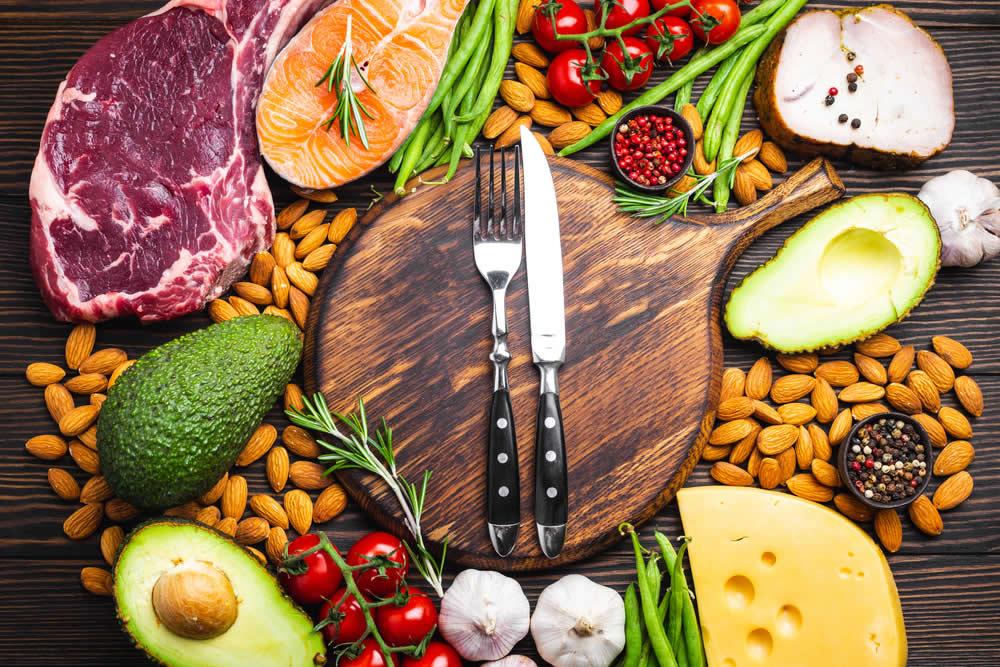 alimenti naturali su montare lerezione