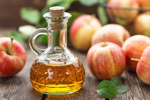 aceto di mele e <a href=